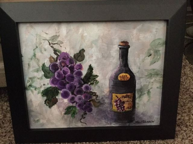 """Bits and Pieces of the Elixer"" original acrylic by Jan Hansen.  Value $85."